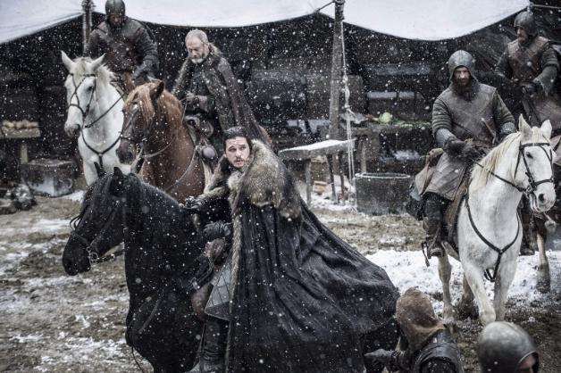 Jon Snow rides out